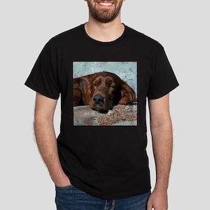 Irish Setter Sleeping Dark T-Shirt