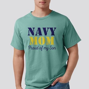 Navy Mom Proud of Son Mens Comfort Colors Shirt