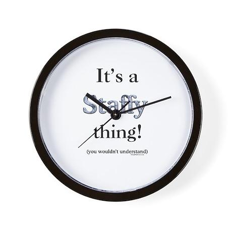 Staffy Thing Wall Clock