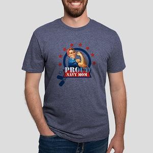 Rosie Proud Navy Mom Mens Tri-blend T-Shirt