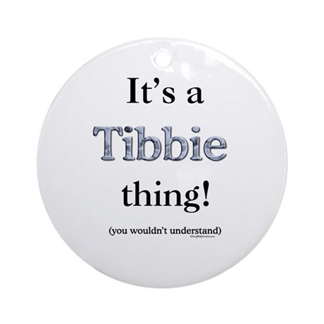 Tibbie Thing Ornament (Round)