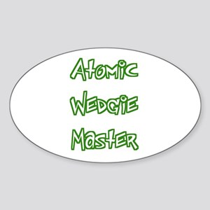 Atomic Wedgie Master Oval Sticker