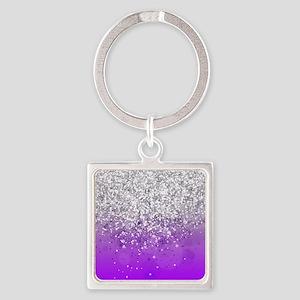Glitteresques IV Square Keychain