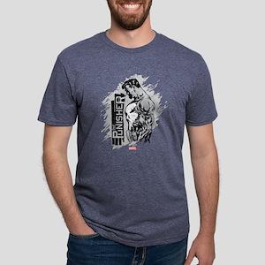 Punisher Side Profile Mens Tri-blend T-Shirt