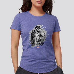 Punisher Side Profile Womens Tri-blend T-Shirt