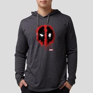 Deadpool Splatter Mask Mens Hooded Shirt