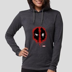 Deadpool Splatter Mask Womens Hooded Shirt