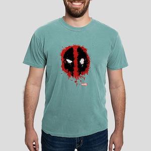 Deadpool Splatter Mask Mens Comfort Colors Shirt