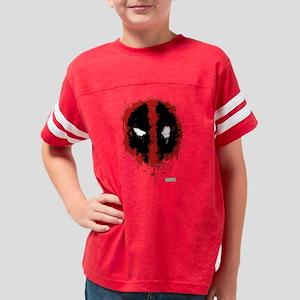 Deadpool Splatter Mask Youth Football Shirt