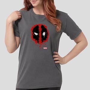 Deadpool Splatter Mask Womens Comfort Colors Shirt