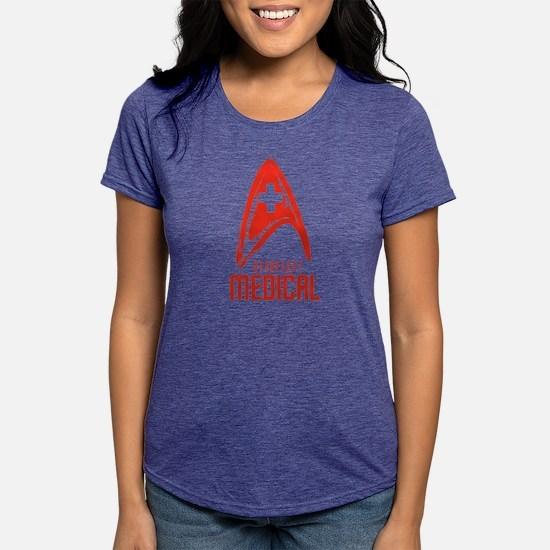 StarFleetMedicalRed Womens Tri-blend T-Shirt
