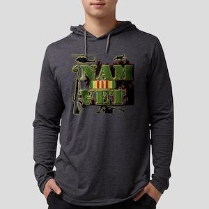 Vietnam Veteran Ribbon Mens Hooded Shirt