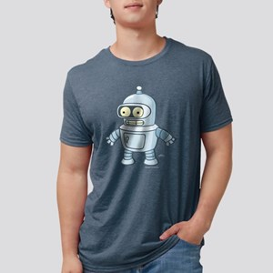 Futurama Baby Bender Dark Mens Tri-blend T-Shirt
