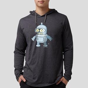 Futurama Baby Bender Dark Mens Hooded Shirt