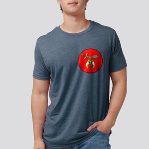 semitar on red circle Mens Tri-blend T-Shirt