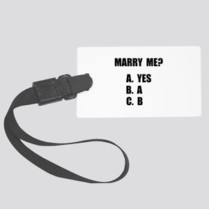 Marry Me Luggage Tag