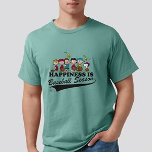 Peanuts - Happiness is B Mens Comfort Colors Shirt