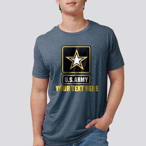 U.S. Army Logo Personalized Mens Tri-blend T-Shirt