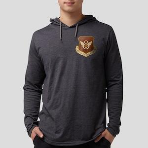 USAF-8th-AF-Shield-Desert Mens Hooded Shirt