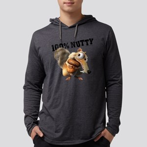 Ice Age Scrat 100% Nutty Light Mens Hooded Shirt