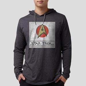 Vintage Star Trek Logo Mens Hooded Shirt