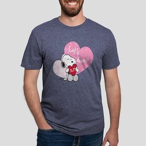 Snoopy - Hugs and Kisses Mens Tri-blend T-Shirt