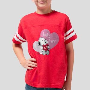 Snoopy - Hugs and Kisses Youth Football Shirt
