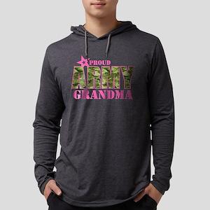 Camo Proud Army Grandma Mens Hooded Shirt