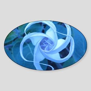 MOON FLOWER Sticker (Oval)