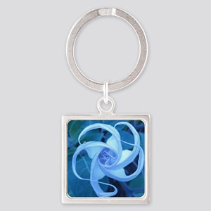MOON FLOWER Square Keychain