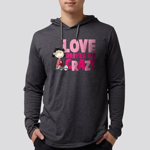 Lucy Love Drives Me Crazy Mens Hooded Shirt