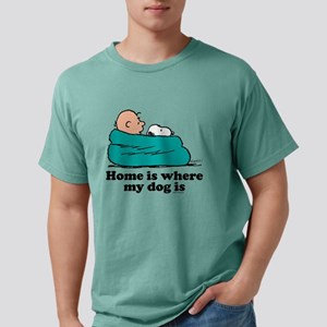 Snoopy - Home is where m Mens Comfort Colors Shirt
