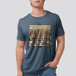 Deadwood Sign Post Mens Tri-blend T-Shirt