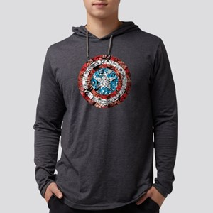 Shield Collage Mens Hooded Shirt