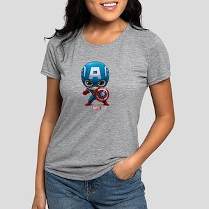 Chibi Captain America Womens Tri-blend T-Shirt