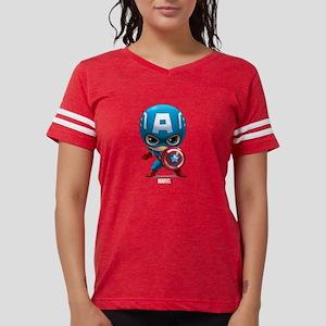 Chibi Captain America Womens Football Shirt