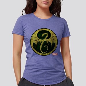 Iron Fist Icon Distressed Womens Tri-blend T-Shirt