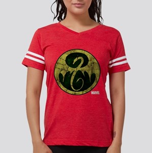 Iron Fist Icon Distressed Womens Football Shirt