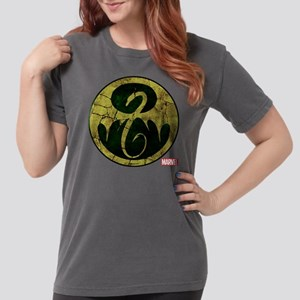 Iron Fist Icon Distres Womens Comfort Colors Shirt