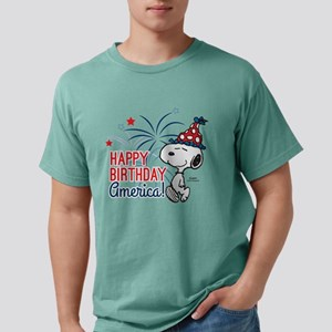 Snoopy - Happy B-Day Ame Mens Comfort Colors Shirt