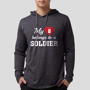 HeartBelongsSoldier1B Mens Hooded Shirt
