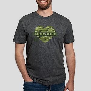Camo Heart Army Wife Mens Tri-blend T-Shirt