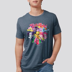 MLP Girls Rule! Dark Mens Tri-blend T-Shirt