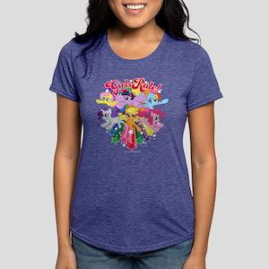 MLP Girls Rule! Dark Womens Tri-blend T-Shirt