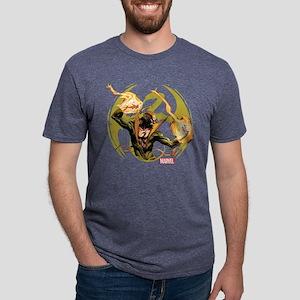 Iron Fist Glowing Fists Dar Mens Tri-blend T-Shirt