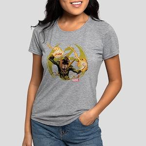 Iron Fist Glowing Fists D Womens Tri-blend T-Shirt