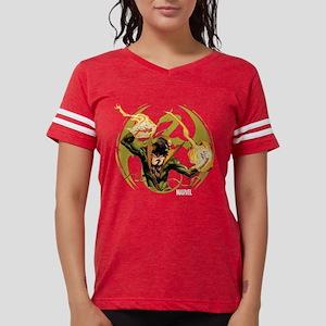 Iron Fist Glowing Fists Dark Womens Football Shirt