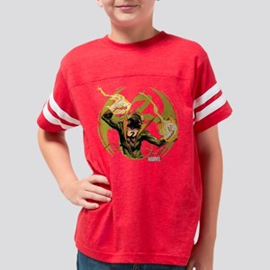 Iron Fist Glowing Fists Dark Youth Football Shirt