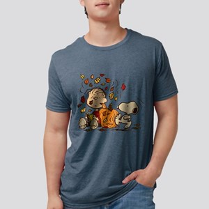 Fall Peanuts Mens Tri-blend T-Shirt