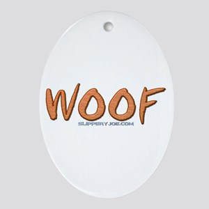 Woof_1 Ornament (Oval)